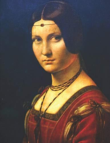 Leonardo da Vinci Black Paper Sketchbook: La Belle Ferronnière | Black & Red Woman Renaissance Art Notebook for Painting & Drawing with Bright Colors ... Metallic Markers (Black Art Sketchbooks)