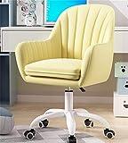 Vidsdere Bürostuhl Gepolstert, Drehstuhl Aus Samtgewebe Höhenverstellbarer Computerstuhl Für Wohnzimmer Schlafzimmer Arbeitszimmer,Gelb