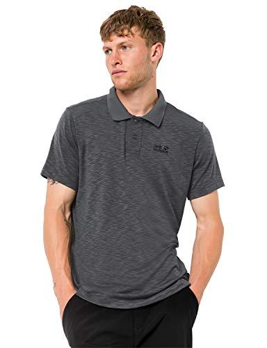 Jack Wolfskin Herren TRAVEL Men Schnelltrocknendes Polo Shirt, Dark Iron, XL