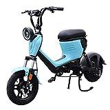 MRMRMNR Patinete Electrico Adultos Bicis Electricas Mujer 48V 400W Bicicleta Adulto Hombres Ciclomotor Eléctrico Ciudad, 2 Modos De Carga, Rango De 30~40 Km, Instrumento LCD