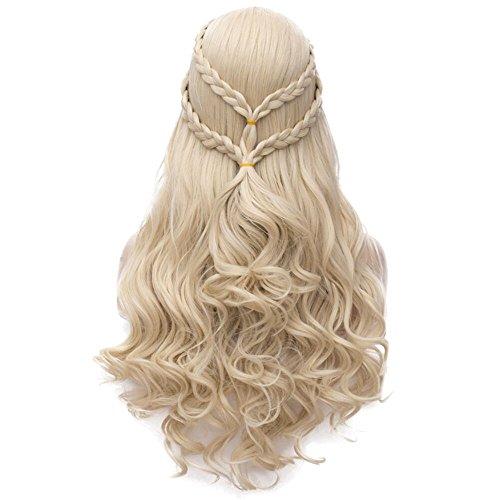 Daenerys Targaryen Addison Cosplay Wig for Game of Thrones Khaleesi Halloween Costumes Hair Wig (Blonde) BU121