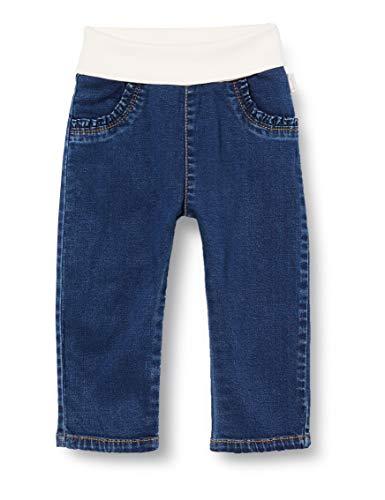 Sanetta Baby-Jungen Jeans Dark Blue Zeitlose Basic-Jeanshose in Angesagter Waschung Fiftyseven, blau, 074