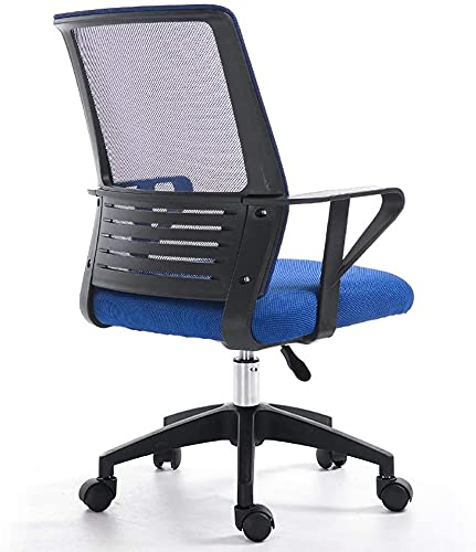 Kontorsstol, Snyggt hemkontor Student Mesh Ryggstöd Svampkudde Dator Swivel Chair, det finns 5 färger att välja mellan 360-graders svängstol (färg: svart) (Color : 2)