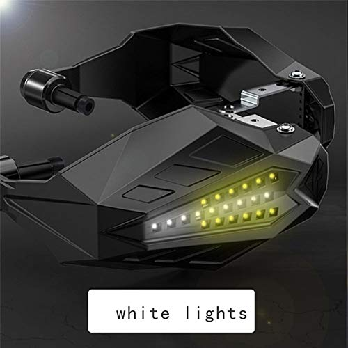Motocicleta molduras Motocicleta Manoplas de Ajuste Universal for Suzuki 600 K8 RM 125 bulevar C90 bulevar M109R Gixxer motocrós Handguards (Color : White LED)