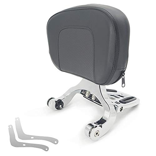 Motorcycle Sissy Bar Luggage Rack Backrest Mount Kits Multi-Purpose Driver Passenger Backrest/Fit For HYOSUNG GV300 (Color : Chrome)