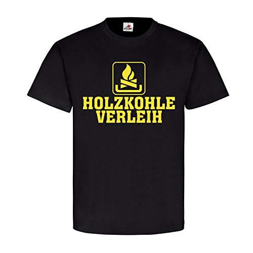 Copytec Holzkohle Verleih Humor Kaminholz Brennstoff heizen Spaß verleihen Fun #22642, Größe:XL, Farbe:Schwarz