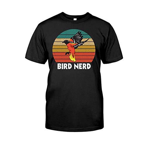 Situen Bird Nerd - Camiseta vintage con diseño de pájaro