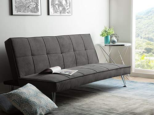 Schlafsofa grau Couch Klappcouch Bettsofa Hasle