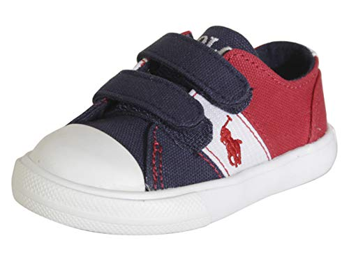 Baby Boy Polo White Canvas Shoes