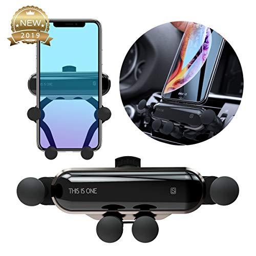 Supporto Auto Smartphone 360 Gradi di Rotazione, Universale Supporto Auto Regolabile Porta Cellulare da Auto per iPhone X XR XS Max 6/7/8 Plus, Samsung, Huawei, GPS (Metallo)