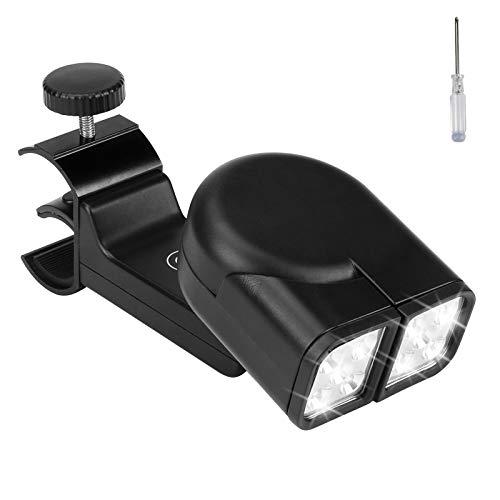 CestMall Luz LED para Parrilla para Barbacoa, lámpara de luz para Barbacoa, 10 Luces LED superbrillantes, Luces de Parrilla con rotación de 90 °/180 ° para Barbacoa, Abrazadera de Tornillo