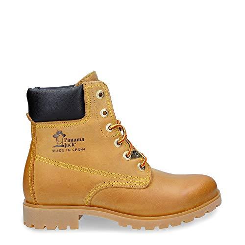 Panama Jack Panama 03 B1, Zapatos de Cordones Brogue para Mujer, Amarillo-Gelb (Vintage), 36 EU