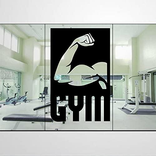 Calcomanía de cartel de bíceps de gimnasio para ventanas y más pegatina extraíble DIY arte decoración de pared mural arte decoración del hogar bi270