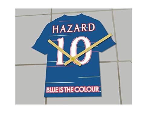 FanPlastic Uhr-Set mit Uhr, Motiv Eden Hazard Chelsea, Limitierte Auflage, Acryl-Hemd-Design