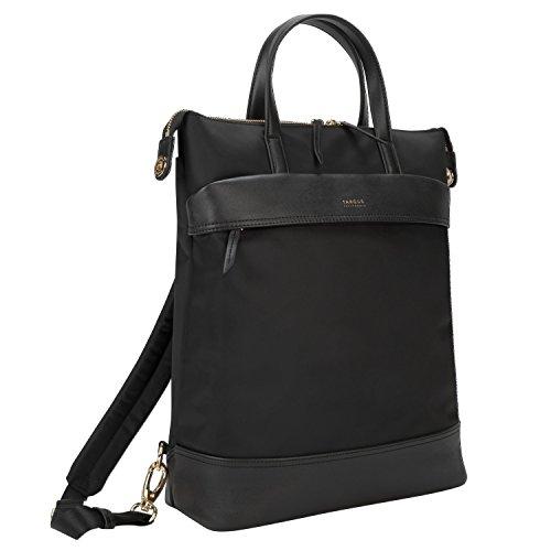 Targus Newport Rucksack, wandelbarer Tagesrucksack mit schützender Schale bis 15 Zoll, 2-in-1 Notebooktasche als Rucksack oder Handtasche verwendbar – Schwarz, TSB948GL