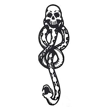 COKOHAPPY 10 Sheets Magic Death Eaters Dark Mark Mamba Snake Temporary Tattoo for Costume Party