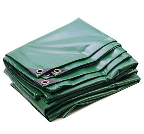 TRNCEE afdekzeil, groen, van wasdoek, PVC, regenbescherming, UV-bescherming, zonwering, verschillende maten 3x4m