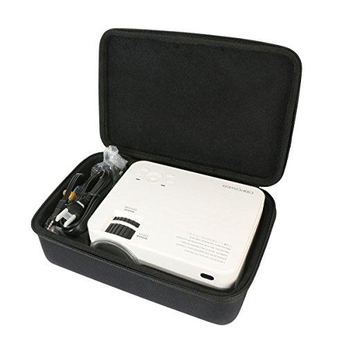 Per DBPOWER T20 LCD Mini Proiettore da 1500 Lumen Proiettore Video Multimedia Home Theater EVA Borsa da viaggio Custodia caso scatola di Khanka