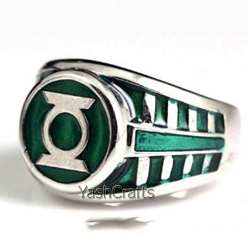 Lantern Ring, Green Lantern Men's Ring, Lantern Jewelry, Lantern Ring, Handmade Ring, Statement Ring, Christmas Ring, Halloween Gift Ring