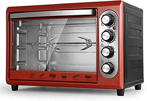 38L Mini horno Temperatura ajustable 0-250 ℃ Y 60 minutos Tiempo Multifunción Multifunción 360 ° Tenedor de la parrilla giratoria / iluminación