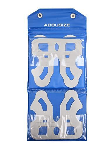 Accusize Industrial Tools 8 Pc Radius Gauge Set 9/16 to 1 Gauges, 3602-5022