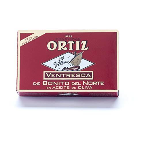 Ortiz Ventresca De Bonito | fein verzinnter Bauch Thunfisch | spanisch | gekocht und fertig zum Essen | Bonito Del Norte / Albacore Thunfisch