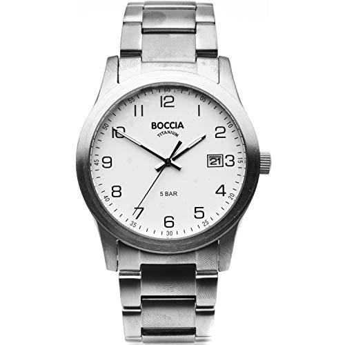 Boccia, 3619-01, analoog kwartshorloge voor heren met titanium armband