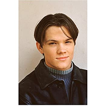 Gilmore Girls 8 inch x 10 inch Photograpg Jared Padalecki/Dean Forester VERY Young! Black Leather Jacket Over Blue Sweater Pose 4 kn