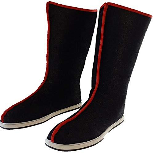 YKJ Soldat Boots Swordsman Cosplay Halloween Cosplay Stiefel Schwarze Schuhe,Black-43