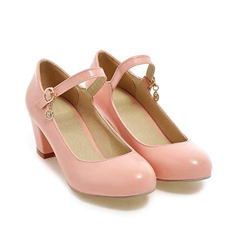 Zapatos Mary Janes para Mujer Tacones Altos con Hebilla con Correa en el Tobillo Tacones Altos para Mujer Primavera otoño Boda