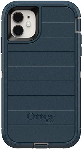 OtterBox Defender Series Rugged Case for iPhone 11 - Case Only - Non-Retail Packaging - Gone Fishin Blue - with Microbial Defense