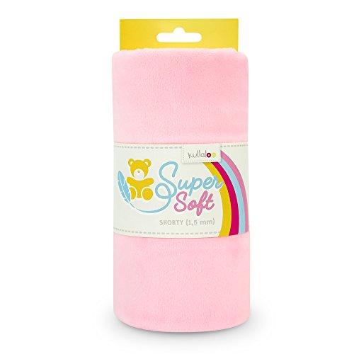 kullaloo Supersoft Plüsch Stoff Shorty in vielen Farben - 1,5mm Florlänge, EN 71-3 & EN 71-9 Zertifiziert (Hellrosa)