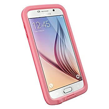 LifeProof FRĒ SERIES Waterproof Case for Samsung Galaxy S6 - Retail Packaging - CUTBACK CORAL  CORAL/CANDY PINK
