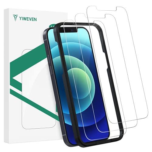 YIWEVEN [3-Pezzi] Pellicola Vetro Temperato per iPhone 12 12 Pro - HD 9H Pellicola Protettiva Schermo per iPhone 12 12 Pro 6.1   [Anti-graffio, Anti-Impronta, Senza Bolle and Facile Installazione]