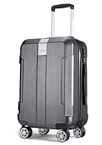 SHAIK® Serie Iceberg, SFO Größe M Handgepäck Boardgepäck Koffer, 32 Liter TSA Schloss, (Schwarz, Handgepäck)