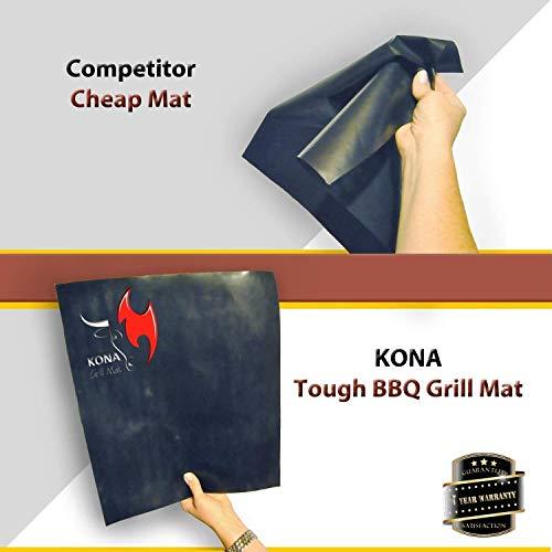 Kona XL Best Grill Mat - BBQ Grill Mat Covers The Entire Grill - Premium Non-Stick 25