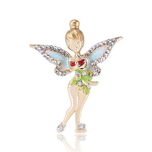 U/N Broches de Hadas para niña, Figura de ángel de Bosque de Diamantes de imitación para Mujer, Broche de Fiesta Informal, Regalos
