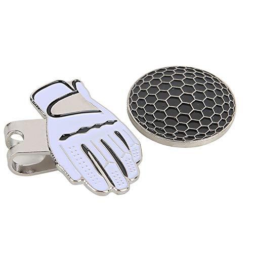 Homeriy Golfball-Marker mit Hut-Clips, Schwarz und Weiß, magnetisch, für Golfball-Marker und Fußball-Empfänger