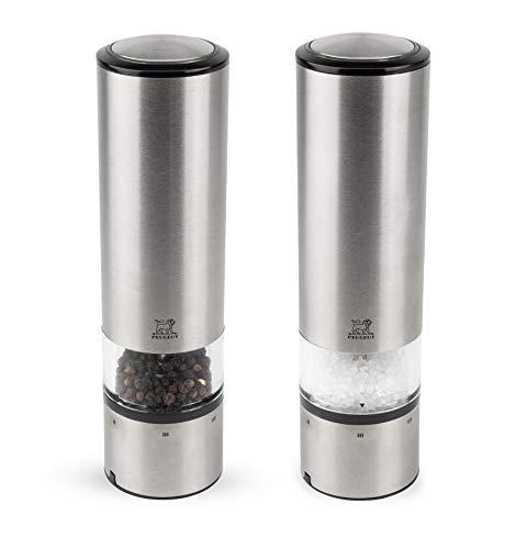 Peugeot Elis Sense Duo de moulins à poivre et à sel électriques et tactiles avec éclairage, Réglage mouture U'Select, Taille : 20 cm, Inox,2/27162