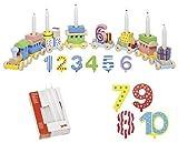 Ameisenkeks ® Set mit Goki Geburtstagszug + Zusatzzahlen + Kerzen 10er Set