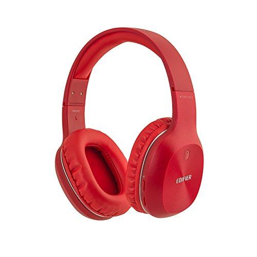 Fones de ouvido Bluetooth Edifier W800BT – Fone de ouvido sem fio sobre a orelha, 50 horas de reprodução, leve, carregamento rápido, Vermelho