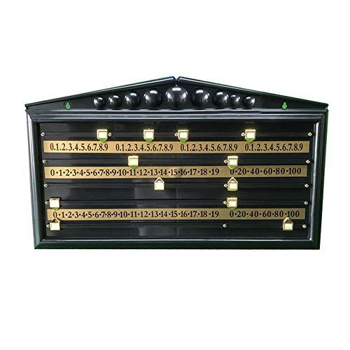 ZHRLQ Snooker-Anzeigetafel, ABS-Billard-Anzeigetafel Mit soliden ABS-Zeigern und ABS-Zählleisten, geeignet für Billardliebhaber