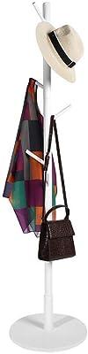 Salinr コートハンガー 小枝 ポールハンガー コートハンガー ハンガーポール 帽子掛け 洋服掛け 頑丈 おしゃれ 約40×40×170cm(ホワイト)