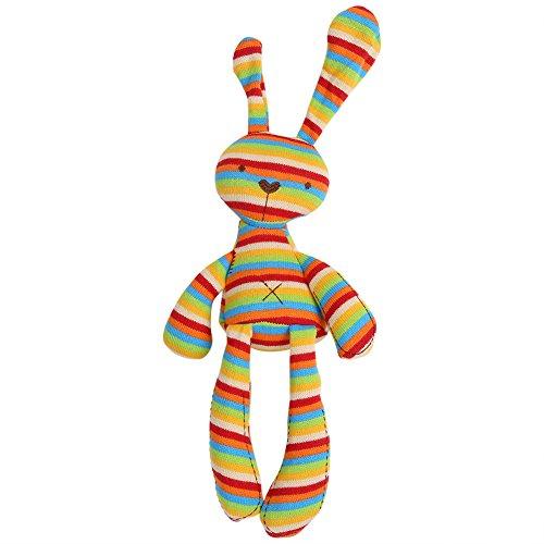 Coniglio Carino Peluche Morbido Confortevole Animale Ripieno Coniglietto Addormentato Confortante Lenitivo Bambola Pacificare Umore Bambino Peluche Giocattolo per Bambini Compleanno Regalo da Natale