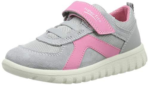 Superfit Baby Mädchen SPORT7 Mini Sneaker, Grau (Hellgrau/Rosa 25), 23 EU