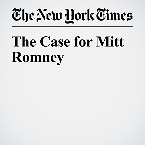 The Case for Mitt Romney audiobook cover art