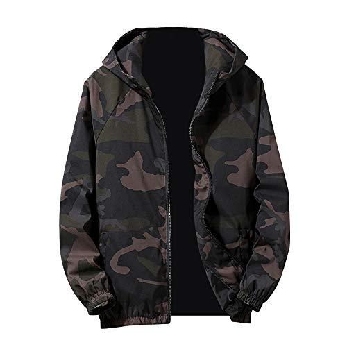 HOMEBABY Mannen Camouflage Jas Hooded Vest Trench Jas Windbreaker Zakelijke Vrije tijd Lange Mouw Sportkleding Fitness Yoga Tops Herfst Winter Warm Trui Bovenwerk