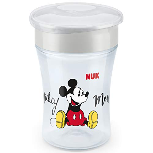 NUK Disney Magic Cup vaso antiderrame bebé, borde antiderrame de 360 ​​°, 8+ meses, sin-BPA, 230 ml, Mickey Mouse, 1 cuenta