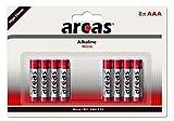 Arcas 117 44803 - Alkaline Batterien 8er Pack, LR03 / AAA / Micro, 1120 mAh, perfekt für Uhren, Taschenrechner, Spielzeug, Leuchten & Fernbedienungen
