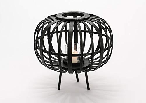 Amadeus - Lanterne sur Pieds Noire en Bambou